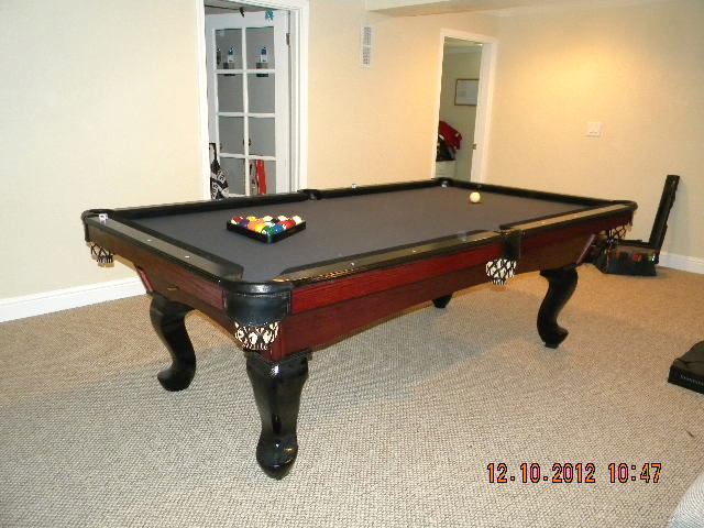 Black/Pro8WineStain Finish Duke Styled Table. With Solid Oak QA Legs For  Itu0027s Foundation. A Super Clean But Affective Looker..All Pool Tables We  Create ...
